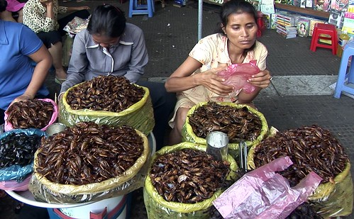 Cambodia - Phnom Penh - Central Market - Grasshoppers - 1