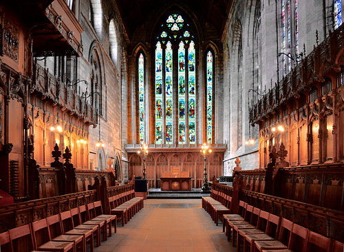 The choir of Dunblane Cathedral