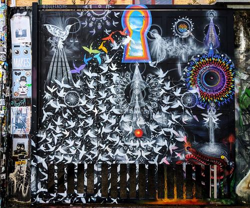 Street art, Beco do Batman (Batman Alley) is a famous area filled with street art in São Paulo.