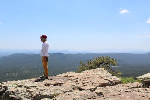 Standing on the edge of the Mogollon Rim, Arizona