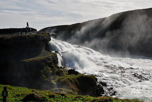 Der isländische Wasserfall Gullfoss, die pure Urgewalt - The Icelandic waterfall Gullfoss, the pure elemental force