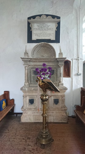 lectern and Cantrell tomb