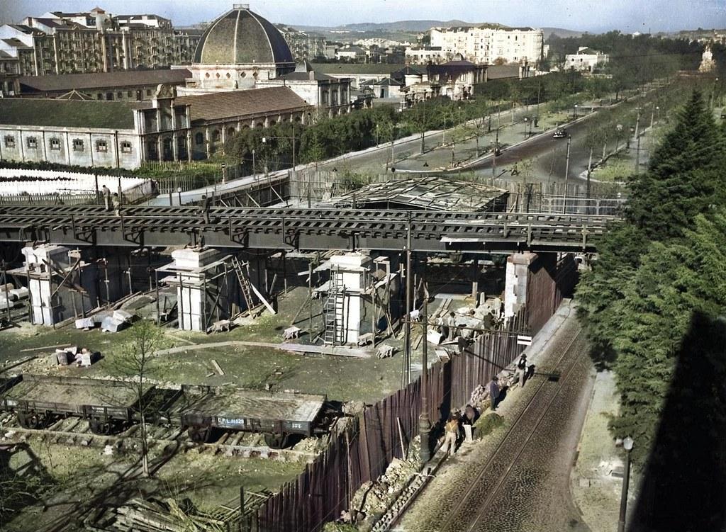 Viaducto de Entre Campos, Lisboa, 1950. Firmino Marques da Costa, in archivo photographico da C.M.L.