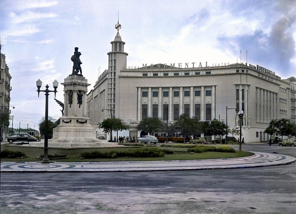 Monumental, Saldanha, 1951-52. Fototipia animada do original de Firmino Marques da Costa, in archivo photographico da C.M.L.