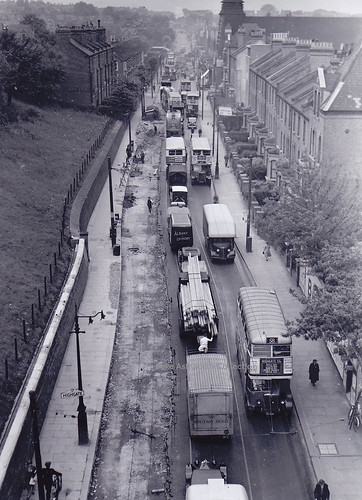 Archway Road, Highgate, London - A1 looking north from Hornsey Lane, c1939