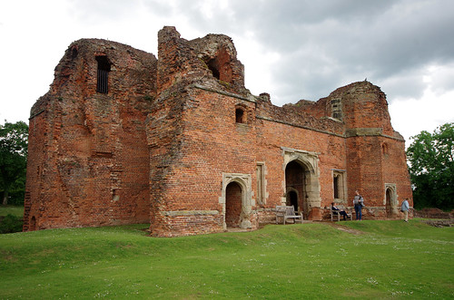 Kirby Muxloe Castle - the rear of the gatehouse