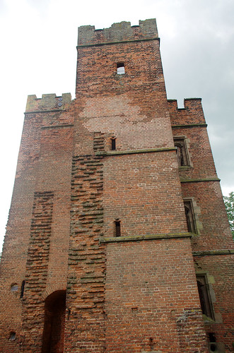 Kirby Muxloe Castle - the bricks show where the walls were never added