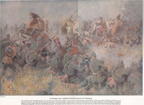 Destruction of an English cavalry brigade near Maubeuge 23. August 1914