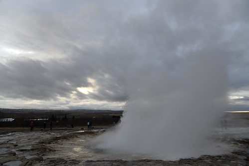 Geyser eruption in 0.03s (8 of 9) - (Gesir geothermal field, by Laugafell in Iceland)