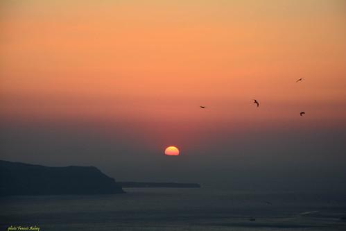 SANTORIN  : Sunset on Oia