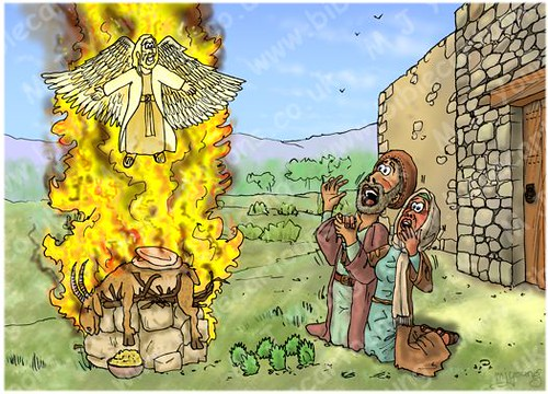 Judges 13 - The birth of Samson - Scene 03 - Flaming sacrifice