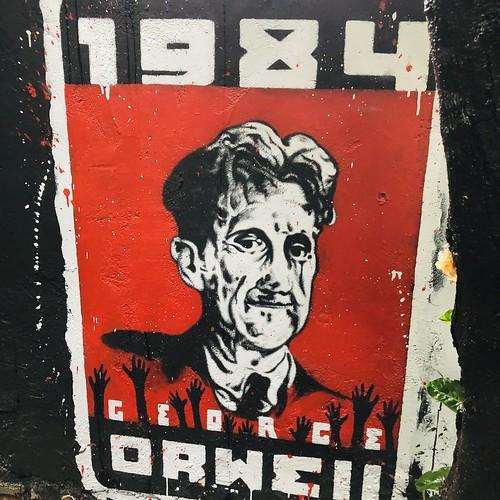 George Orwell - painted portrait - IMG_1868