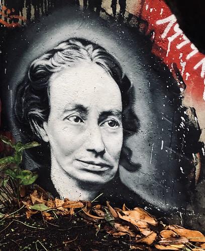 Louise Michel - painted portrait - IMG_1867