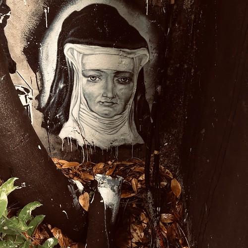 Hildegard von Bingen - painted portrait - IMG_1861