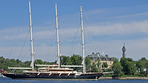 The sailing yacht Eos in Stockholm