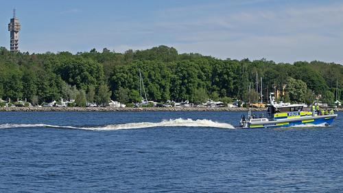 The Swedish Police boat 9910 in Stockholm