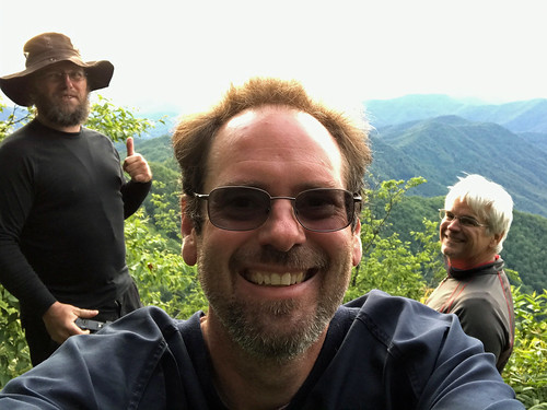 Cheoah Bald Selfie with Scott and Andy