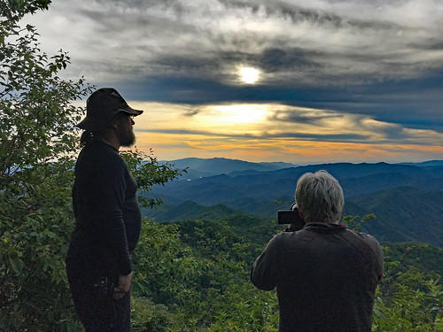 Scott and Andy photographing the sunset from Cheoah Bald