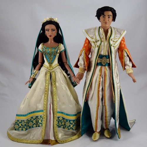2019 Live Action Jasmine and Aladdin Limited Edition Doll Set - Disney Store UK Purchase - Deboxed