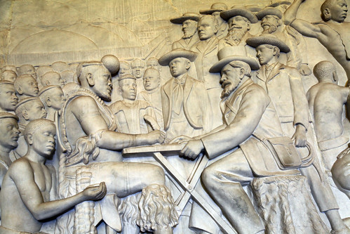 Panel 12: Retief and Dingane sign the treaty, Voortrekker Monument