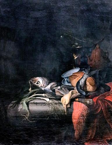 IMG_1234 Abraham Mignon 1640-1679 Utrecht Stillleben mit Hering und Teekanne Still life with herring and teapot Nature morte avec hareng et théière Schwerin.Staatliches Museum