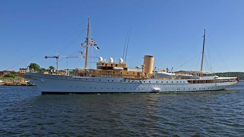 The Danish Royal familys ship Dannebrog in Stockholm