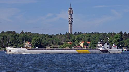 The cargo ship Jehander 1 in Stockholm