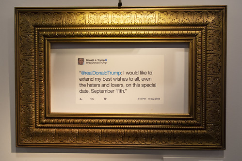 At the Donald J Trump Presidential Twitter Library