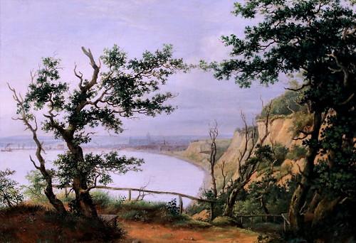 IMG_1000 Peder Holm 1798-1875 Danemark Aarhus vu de Riis Skov  Aarhus seen from Riis Skov 1847 Aarhus Kunstmuseum Denmark