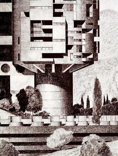 Denis Hartley illustration, Archisystems. 1970 s