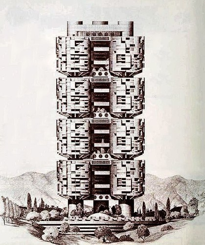 Denis Hartley illustration, Archisystems. 1970s
