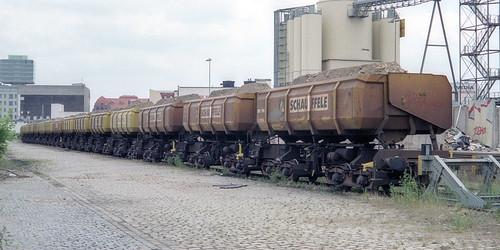 Schauffele Seitenkippwagen, Bf. Berlin Ostgüterbahnhof, 12.6.2000