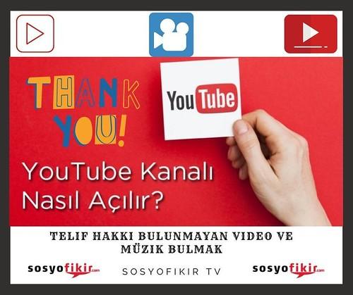 Youtube Kanalı Açmak - Telif Hakkı Olmayan Müzik Ve Video Bulmak Tüm Liste - Bölüm 1