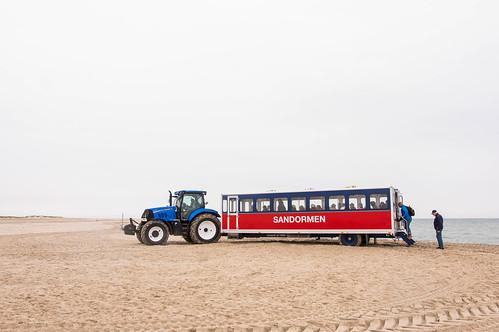 Sand bus in the beach