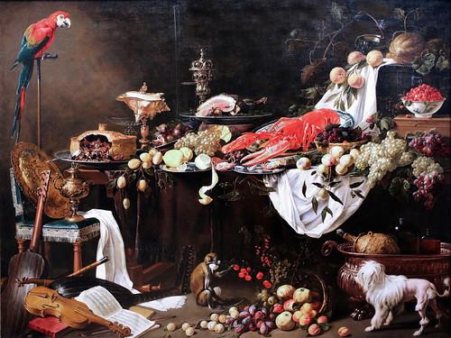 IMG_0470B Adriaen Van Utrecht. 1599-1652. Utrecht. Le Banquet. 1644. Rijksmuseum Amsterdam.