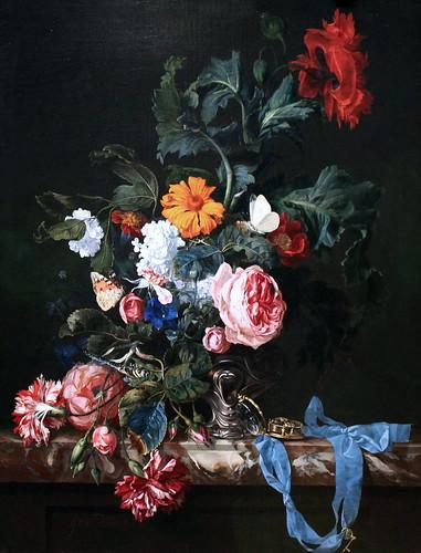 IMG_0255 Willem van Aelst. 1627-1683. Amsterdam Nature morte florale à la montre de poche.  Floral still life at the pocket watch. Amsterdam. Rijksmuseum