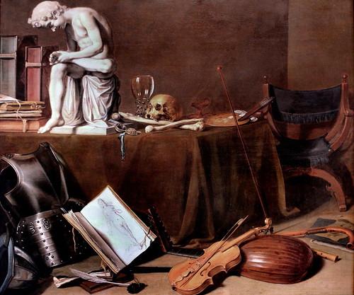 IMG_0726 Pieter Claesz.  act 1597-1660. Haarlem Vanité avec le tireur d'épine.  Vanity with the thorn shooter. Amsterdam  Rijksmuseum
