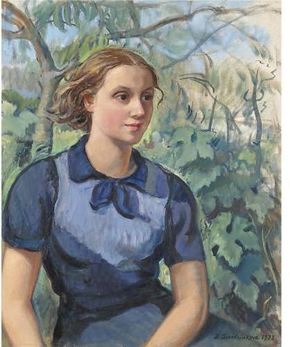 Portrait of Katya, 1933, Zinaida Serebriakova