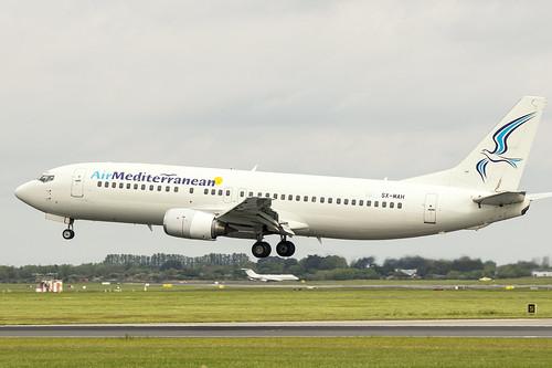 SX-MAH | Air Mediterranean | Boeing B737-405 | CN 24643 | Built 1990 | DUB/EIDW 22/05/2019 | ex LN-BRE, G-CILC, 4L-GSN, 9H-KAT