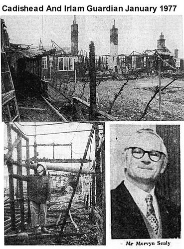 Irlam High School Alfred Turner Building fire 1977