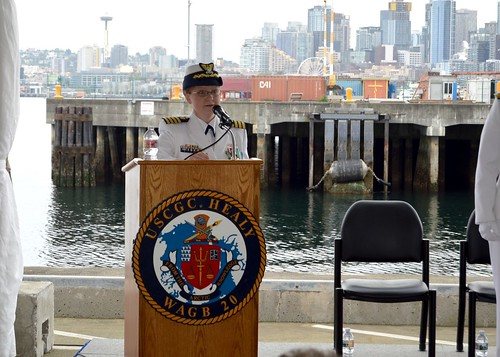 Coast Guard Cutter Healy change of command ceremony
