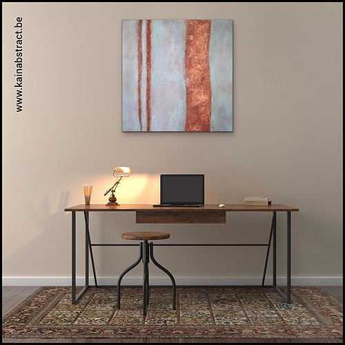 Mijn abstract schilderij in een mooie setting. Meer info of samenwerken? Stuur mij een mailtje: kain.abstract.art@gmail.com