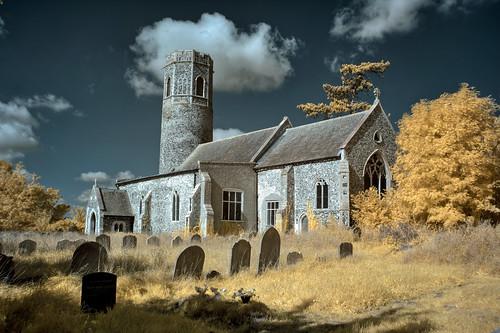 Infrared HDR St Andrew's church, Mutford, Suffolk