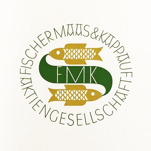 Logo for Fischer, Maas & Kappauf (knitwear), Oberlungwitz, 1923