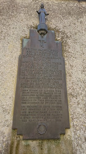 Plaque 50th Northumbrian Infantry Division