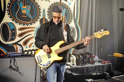 Ed Friedland soundchecking with the Mavericks in Birmingham UK