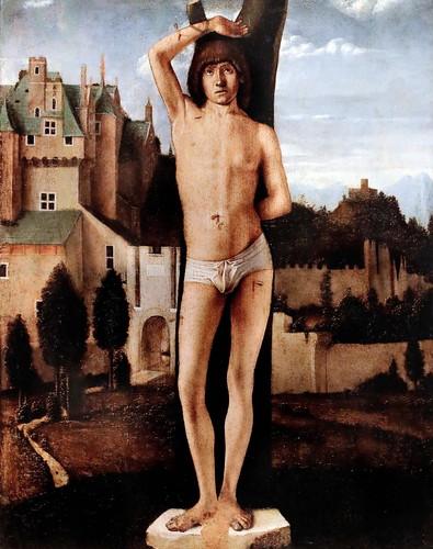 IMG_4238 Bartolomeo Montagna 1449-1523 Venise  Saint Sébastien vers 1480 Bergamo Accademia Carrara