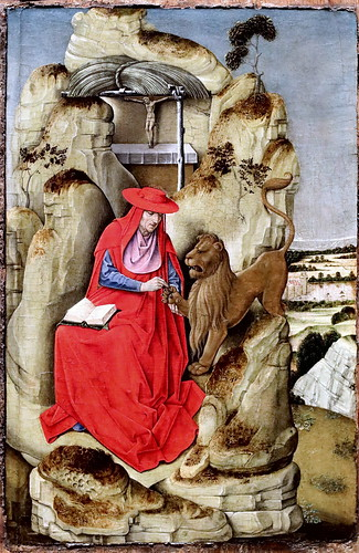 IMG_4199 X Flandre ? vers 1470 Saint Jerome  Bergamo Accademia Carrara