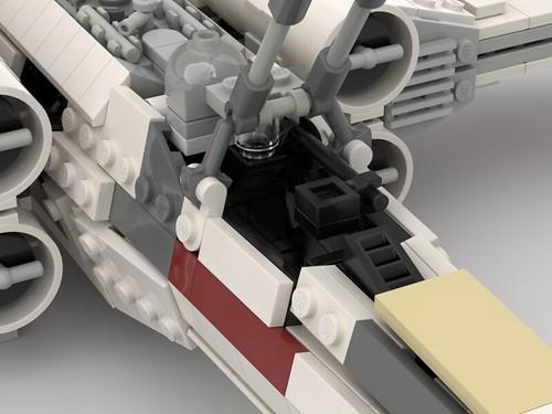 T-65 Incom X-Wing Starfighter 1s=f Red Five: Cockpit
