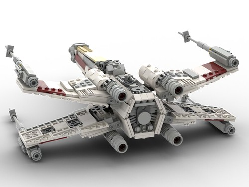 T-65 Incom X-Wing Starfighter 1s=f Red Five: Back